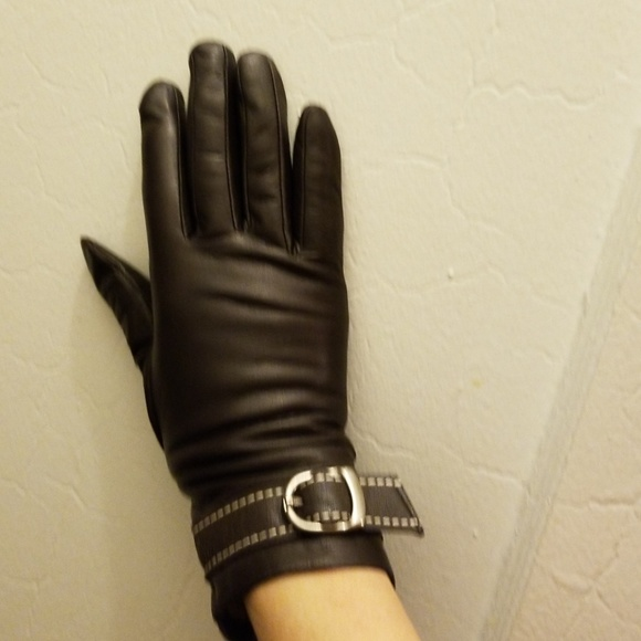 TENDER GLOVING CARE Accessories - BROWN LEATHER GLOVES/CASHMERE LINING SIZE S/L NWT